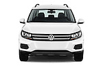 Car photography straight front view of a 2017 Volkswagen Tiguan S-4Motion 5 Door SUV Front View