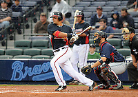 29 March 2008: Martin Prado of the Atlanta Braves in an exhibition game against the Cleveland Indians at Turner Field in Atlanta, Ga.   Photo by: Tom Priddy/Four Seam Images