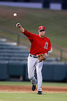 Alex Allbritton #13 of the AZL Angels during a game against the AZL Diamondbacks at Tempe Diablo Stadium on July 14, 2013 in Tempe, Arizona. AZL Angels defeated the AZL Diamondbacks, 5-3. (Larry Goren/Four Seam Images)