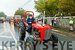 Martin Ferris on a Massey Ferguson at the Ardfert Tractor Run fundraiser for the staff of UHK on Sunday.