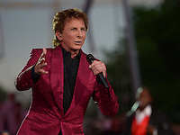 """July 3, 2013  (Washington, DC)  Entertainer Barry Manilow performs at the 2013 """"A Capitol Fourth"""" concert rehearsal at the U.S. Capitol on July 3, 2013.  (Photo by Don Baxter/Media Images International)"""