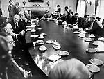 President Richard Nixon cabinet meeting at the White House Washington DC,