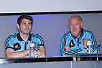 01.06.2012. Telecinco presents its official schedule for the transmission of Eurocup 2012 to the Ciudad del Futbol of Las Rozas, Madrid. In the image Iker Casillas and Vicente del Bosque  (Alterphotos/Marta Gonzalez)