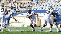 CHAPEL HILL, NC - NOVEMBER 14: Sam Hartman #10 of Wake Forest scrambles with the ball during a game between Wake Forest and North Carolina at Kenan Memorial Stadium on November 14, 2020 in Chapel Hill, North Carolina.