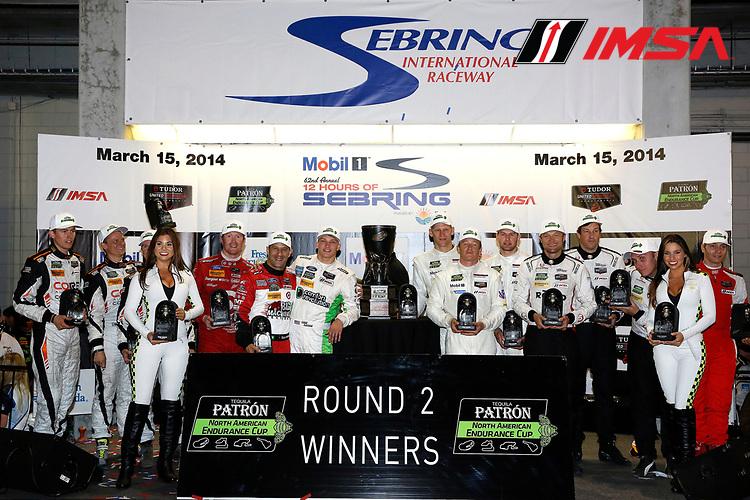 12-15  March, 2014, Sebring, Florida, USA<br /> Tequila Patron North American Endurance Cup presentation<br /> © 2014, Michael L. Levitt<br /> LAT Photo USA for IMSA
