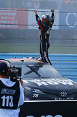 Monster Energy NASCAR Cup Series<br /> I LOVE NEW YORK 355 at The Glen<br /> Watkins Glen International, Watkins Glen, NY USA<br /> Sunday 6 August 2017<br /> Martin Truex Jr, Furniture Row Racing, Furniture Row/Denver Mattress Toyota Camry celebrates his win<br /> World Copyright: Russell LaBounty<br /> LAT Images