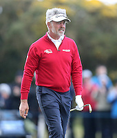 Friday 29th May 2015; Darren Clarke, Northern Ireland, screams at his ball<br /> <br /> Dubai Duty Free Irish Open Golf Championship 2015, Round 2 County Down Golf Club, Co. Down. Picture credit: John Dickson / SPORTSFILE