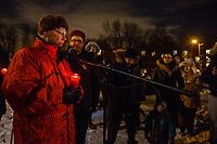 Vigile apres la fusillade  a la mosque de Quebec, 30 Janvier 2017<br /> <br /> <br /> <br /> PHOTO : Agence Quebec Presse