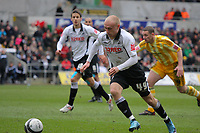 ATTENTION SPORTS PICTURE DESK<br /> Pictured: David Cotterill of Swansea City in action<br /> Re: Coca Cola Championship, Swansea City Football Club v Newcastle United at the Liberty Stadium, Swansea, south Wales. 13 February 2010