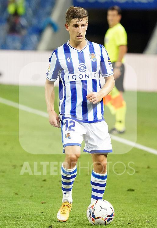 Real Sociedad's Aihen Munoz during La Liga match. September 20, 2020. (ALTERPHOTOS/Acero)
