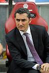 Athletic Club´s coach Ernesto Valverde during 2014-15 La Liga match between Atletico de Madrid and Athletic Club at Vicente Calderon stadium in Madrid, Spain. May 02, 2015. (ALTERPHOTOS/Luis Fernandez)