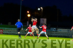 Ronan Buckley, East Kerry in action against Joseph Lenihan, St. Brendan's Board during the Kerry County Senior Football Championship Semi-Final match between East Kerry and St Brendan's at Austin Stack Park in Tralee, Kerry.