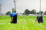 Rolling out the red carpet at Queen's Plate  at Woodbine Raceway in Toronto, Canada on July 07, 2013.