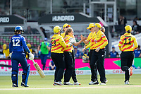 Trent Rockets celebrate the wicket of Tammy Beaumont, London Spirit during London Spirit Women vs Trent Rockets Women, The Hundred Cricket at Lord's Cricket Ground on 29th July 2021