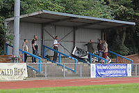 The covered terrace at Cricklefields during Barkingside vs Ipswich Wanderers, Emirates FA Cup Preliminary Round Football at Cricklefields Stadium, Ilford, England on 30/08/2015