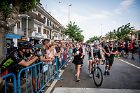 Sam Bennett (IRL/Bora-Hansgrohe) got 2nd in today's bunch sprint, but is the new green jersey (points leader)<br /> <br /> Stage 4: Cullera to El Puig (175km)<br /> La Vuelta 2019<br /> <br /> ©kramon