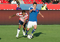 03 June 2012: US Men's National Soccer Team defender Edgar Castillo  #15 in action during an international friendly soccer match between the United States Men's National Soccer Team and the Canadian Men's National Soccer Team at BMO Field in Toronto..The game ended in 0-0 draw..
