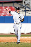 Xavier Musketeers Patrick Paligraf #16 during a game vs. the Akron Zips at Chain of Lakes Park in Winter Haven, Florida;  March 11, 2011.  Xavier defeated Akron 7-0.  Photo By Mike Janes/Four Seam Images