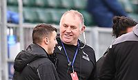 21st November 2020; Recreation Ground, Bath, Somerset, England; English Premiership Rugby, Bath versus Newcastle Falcons; Dean Richards Director of Rugby for Newcastle Falcons celebrates winning the match
