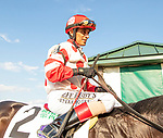 """JULY 04, 2021: Mind Control, #2, ridden by John Velazquez, wins the """"Win & You're In"""" Gr. 2 John A. Nerud Stakes, going 7 furlongs, at Belmont Park in Elmont, New York. Sue Kawczynski/Eclipse Sportswire/CSM"""