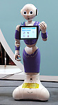 July 21, 2016, Tokyo, Japan - Japanese communication giant Softbank's humanoid robot Pepper revceptionist model is displayed at Softbank's two-day convention Softbank World in Tokyo on Thursday, July 21, 2016. Softbank CEO Masayoshi Son delivered a keynote speech at the event after the company announced to acquire British chip maker ARM last week.     (Photo by Yoshio Tsunoda/AFLO) LWX -ytd-