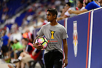 Harrison, NJ - Wednesday Aug. 03, 2016: Ball boy during a CONCACAF Champions League match between the New York Red Bulls and Antigua at Red Bull Arena.