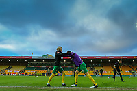 2nd January 2021; Carrow Road, Norwich, Norfolk, England, English Football League Championship Football, Norwich versus Barnsley; Todd Cantwell of Norwich City warms up with Grant Hanley