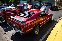 Red Ford Mustang, Return to Renton Auto Show 2017, Washington, USA.