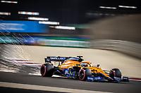 27th March 2021; Sakhir, Bahrain; F1 Grand Prix of Bahrain, Qualifying sessions;  03 RICCIARDO Daniel (aus), McLaren MCL35M during Formula 1 Gulf Air Bahrain Grand Prix 2021 qualifying