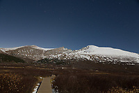 Mt. Bierstadt trail by moonlight