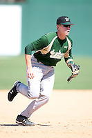 February 20, 2009:  Third baseman Jonathan Koscso (10) of the University of South Florida during the Big East-Big Ten Challenge at Jack Russell Stadium in Clearwater, FL.  Photo by:  Mike Janes/Four Seam Images