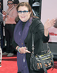 Carrie Fisher at  The L.A. Premiere of The Three Stooges - The Movie held at The Grauman's Chinese Theatre in Hollywood, California on April 07,2012                                                                               © 2012 Hollywood Press Agency