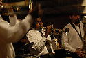 A traditional jazz band performs at Sean Yseult and Chris Lee's wedding in New Orleans, Saturday, Jan. 12, 2008.