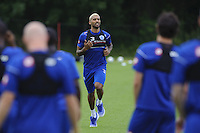 Armand Traore and the QPR team in training