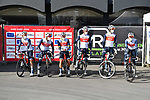 Trek-Segafredo at sign on for the 73rd edition of Kuurne-Brussel-Kuurne 2021 running 197km from Kuurne to Kuurne, Belgium. 28th February 2021  <br /> Picture: Serge Waldbillig | Cyclefile<br /> <br /> All photos usage must carry mandatory copyright credit (© Cyclefile | Serge Waldbillig)
