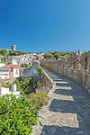 Portugal, Obidos, Looking Down on the Historic Center from the City Wall