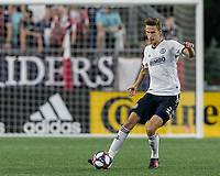 FOXBOROUGH, MA - JUNE 27: Jack Elliott #3 passes the ball during a game between Philadelphia Union and New England Revolution at Gillette Stadium on June 27, 2019 in Foxborough, Massachusetts.