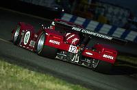 The #12  Risi Competizione Ferrari enters the International Horseshoe..39th Rolex 24 at Daytona, 3/4 February,2001 Daytona International Speedway  Daytona Beach,Florida,USA.©F.Peirce Williams 2001 ..