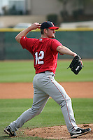 Barret Browning  - Los Angeles Angels 2009 spring training.Photo by:  Bill Mitchell/Four Seam Images