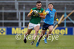 Jack Sherwood, Kerry in action against Cormac Costello, Dublin during the Allianz Football League Division 1 South between Kerry and Dublin at Semple Stadium, Thurles on Sunday.