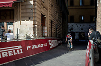 race winner Mathieu Van der Poel (NED/Alpecin-Fenix) finishing at the Piazza Del Campo<br /> <br /> 15th Strade Bianche 2021<br /> ME (1.UWT)<br /> 1 day race from Siena to Siena (ITA/184km)<br /> <br /> ©kramon