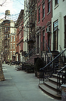 New York City: Greenwich Village--row houses, Morton St.  Photo '78.