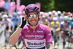 Maglia Ciclamino Giacomo Nizzolo (ITA) Team Qhubeka Assos before the start of Stage 7 of the 2021 Giro d'Italia, running 181km from Notaresco to Termoli, Italy. 14th May 2021.  <br /> Picture: LaPresse/Gian Mattia D'Alberto | Cyclefile<br /> <br /> All photos usage must carry mandatory copyright credit (© Cyclefile | LaPresse/Gian Mattia D'Alberto)