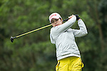 Su Yeon Jang of South Korea tees off at the 14th hole during Round 2 of the World Ladies Championship 2016 on 11 March 2016 at Mission Hills Olazabal Golf Course in Dongguan, China. Photo by Lucas Schifres / Power Sport Images