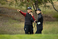 STANFORD, CA - APRIL 25: Anne Walker, Rachel Heck at Stanford Golf Course on April 25, 2021 in Stanford, California.