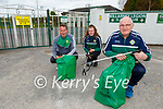 John Doona with Enda and Amy Walsh who helped withnthe litter pickup around Direen as Legion GAA club One Club project