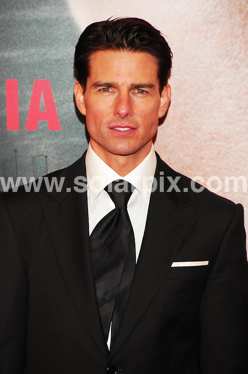 """**ALL ROUND PICTURES FROM SOLARPIX.COM**.**SYNDICATION RIGHTS FOR UK, ASIA, AUSTRALIA, CANADA, DUBAI, GREECE, NEW ZEALAND, RUSSIA, SOUTH AFRICA, SOUTH AMERICA, AND USA**.The Hollywood actor Tom Cruise, attended the premiere in Madrid of his latest film """"Valkyrie"""" near the Royal Theatre and attended  all the fans that waited so patiently outside in the street in Madrid...JOB REF:8340-SPA     DATE:27-01-09.**MUST CREDIT SOLARPIX.COM OR DOUBLE FEE WILL BE CHARGED* *UNDER NO CIRCUMSTANCES IS THIS IMAGE TO BE REPRODUCED FOR ANY ONLINE EDITION WITHOUT PRIOR PERMISSION*"""