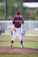 J.C. Dyer (1) of Desert Ridge High School in Mesa, Arizona during the Baseball Factory All-America Pre-Season Tournament, powered by Under Armour, on January 13, 2018 at Sloan Park Complex in Mesa, Arizona.  (Mike Janes/Four Seam Images)