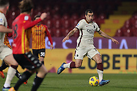 Henrikh Mkhitaryan of AS Roma compete for the ball during the Serie A football match between Benevento Calcio and AS Roma at Ciro Vigorito stadium in Benevento (Italy), February 21, 2021. <br /> Photo Cesare Purini / Insidefoto