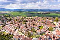 France, Allier, Charroux, labelled Les Plus Beaux Villages de France (The Most Beautiful Villages of France)(aerial view) // France, Allier (03), Charroux, labellisé Les Plus Beaux Villages de France (vue aérienne)